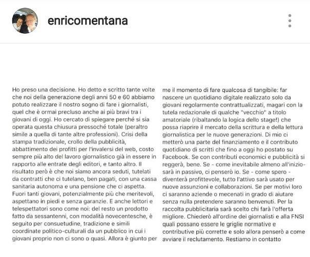 post instagram Mentana